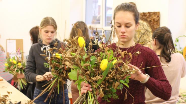 Školní floristická soutěž 2019