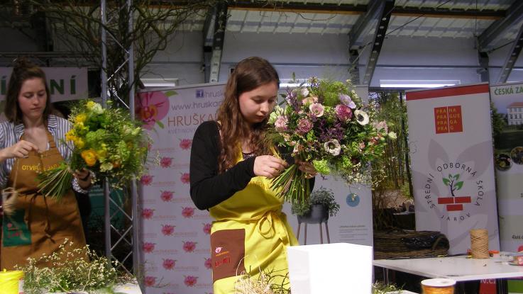 První místo ve floristické soutěži
