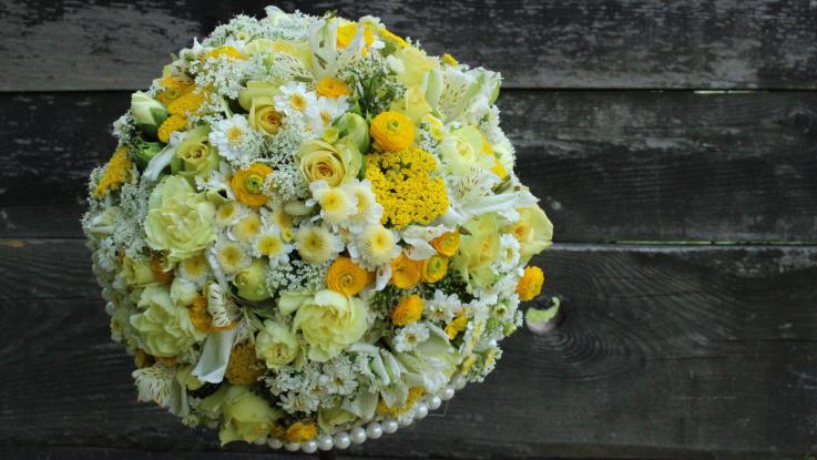 Výstava květinových dekorací našich absolventek