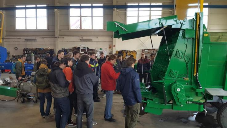 Exkurze techniků k výrobci zemědělské techniky a pivovaru