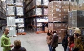Exkurze studentů do logistických firem