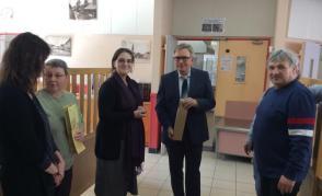 Zástupci delegace s francouzskými kolegy