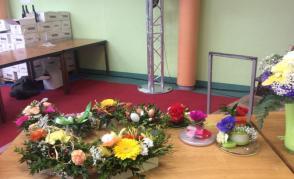 Výrobky našich floristek na výstavě