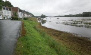 Záplavy v městečku Chaumonr sur Loire