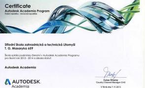 Naše škola obhájila statut Autodesk Academia