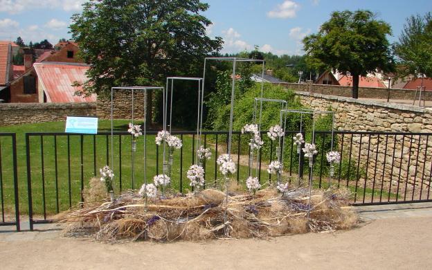 Florální objekt vytvořený ve spolupráci se studenty zahradnické fakulty Lednice